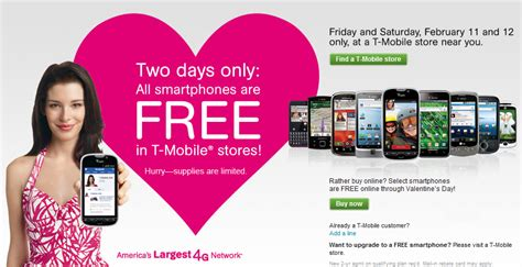 t mobile free phone get free t mobile smartphones on feb 11th 12th