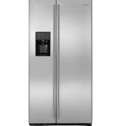 monogram  standing side  side refrigerator zfsbdxss ge appliances