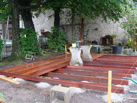 realisation d une terrasse en bois r 233 alisation d une terrasse bois oloron sainte 64 despaux cr 233 ation jardins