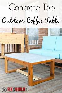 fine patio side table plans DIY Concrete Top Outdoor Coffee Table | FixThisBuildThat