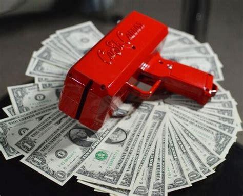 cash cannon  cash gun    rain