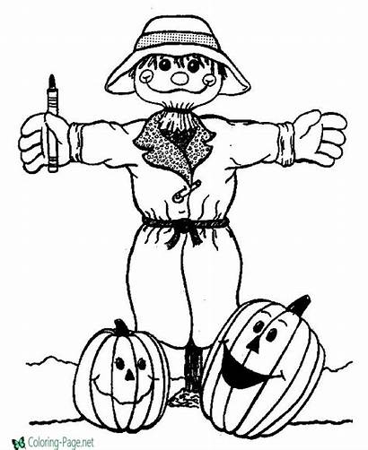 Halloween Coloring Pages Printable Scarecrow