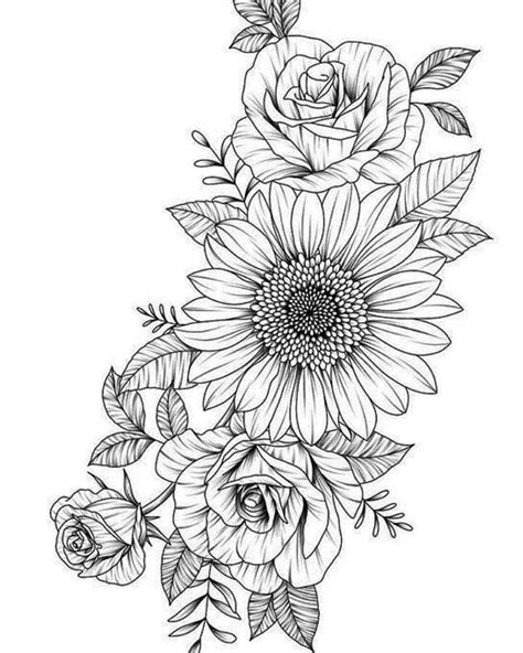 Sun flower for best friend | Floral tattoo design, Tattoos