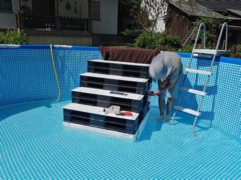 pool treppe nachrüsten above pool pool treppe pool stairs stairs r hundetreppe outdoor spaces in 2019