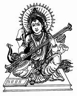 Coloring Pages Saraswati Adult India Bollywood Adults Colouring Printable Drawing Coloriage Inde Indian Music Books Vina Adulte sketch template