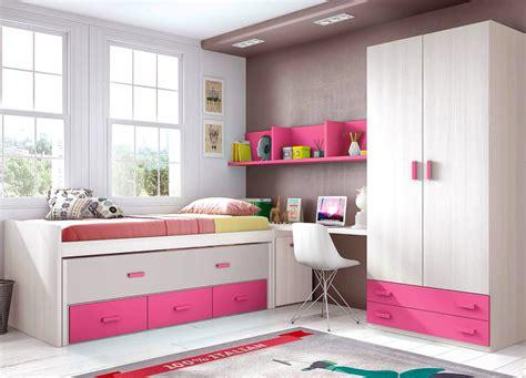 lit avec bureau pour fille chambre fille et avec un lit surélevé glicerio