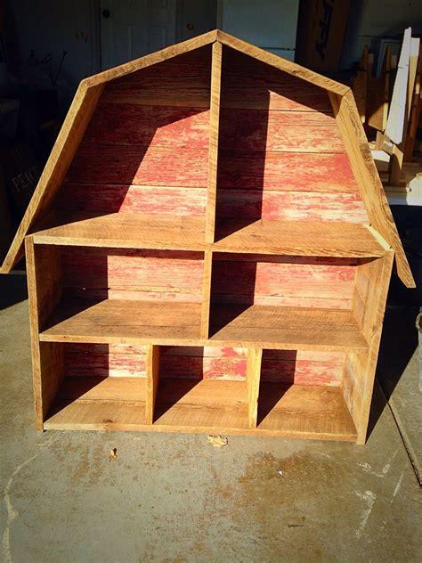 barn book  toy shelf    barn wood