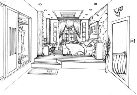 Drawing A Bedroom In Perspective by This Is My One Point Perspective Drawing Of A Designed