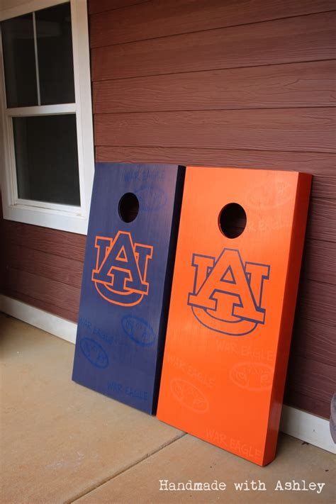 diy cornhole board handmade  ashley