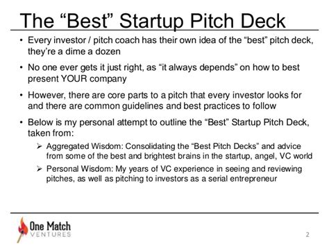 best startup pitch decks the best startup pitch deck how to present to vcs