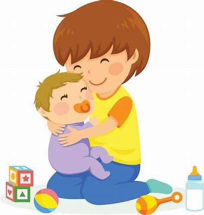Clipart Brothers Brother Schwester Clip Boy Help