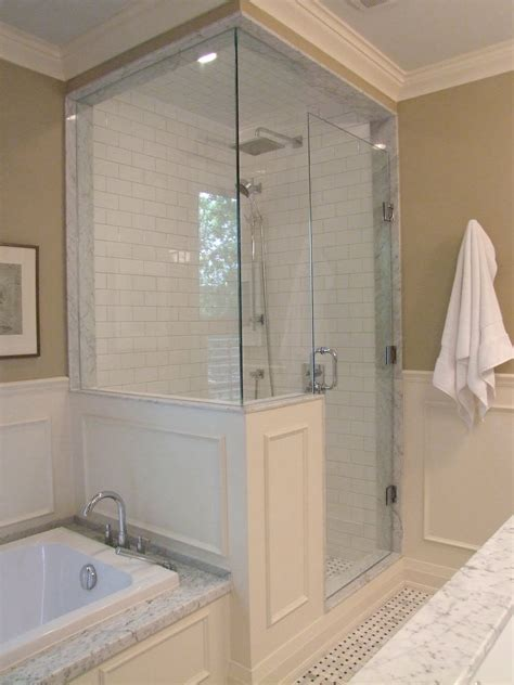 half wall glass shower creed after e design bathroom project part 2