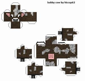 baby cow papercraft template crafts pinterest With minecraft cow template