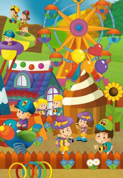 Mejoramiento del cementerio central del distrito de san. Dibujos: la feria   Escena de Feria de dibujos animados — Foto de stock © illustrator_hft #112712658