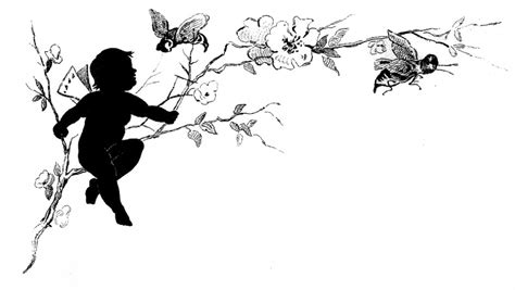 Pictures Of Fairies In The Garden by Vintage Fairy Child Silhouette Image The Graphics Fairy