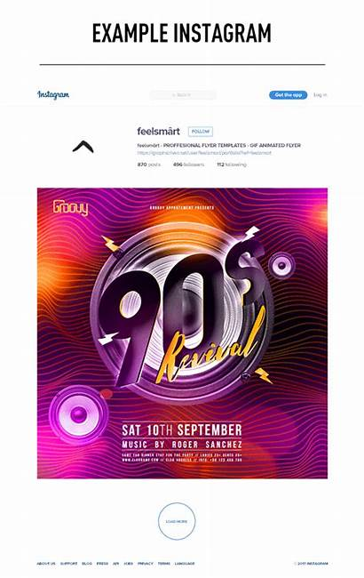 90s Flyer Template Animation Revival Action