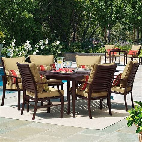 shutter 7 patio dining set seats 6
