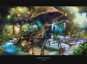 mushroom forest by hongryu on DeviantArt