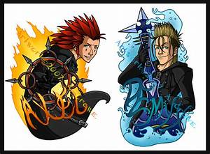 Axel and Demyx Badge Set by psycrowe on DeviantArt