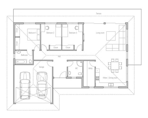 efficient small house plans small house design with open floor plan efficient room