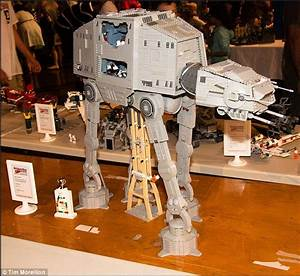 Dog freak out at sight of owners Lego Star Wars AT-AT ...