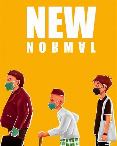 Normal Poster Corona Situation Virus Adobe Artstation