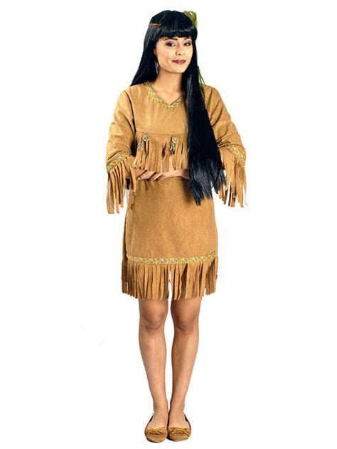 indianer kost 252 m mit fransen damen kost 252 me f 252 r erwachsene