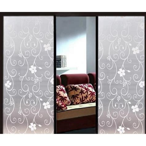 90cm Flower Decorative Window Film  Self Adhesive Frosted