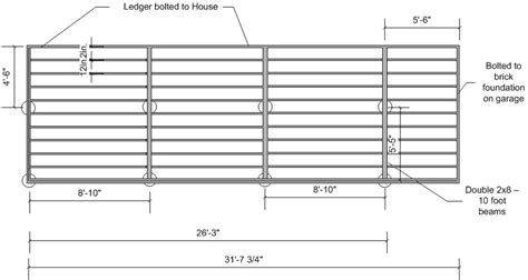Deck Footing Spacing And Layout by Deck Foundation Layout Deck Design And Ideas