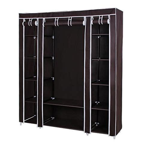 songmics 59 portable clothes closet non woven fabric