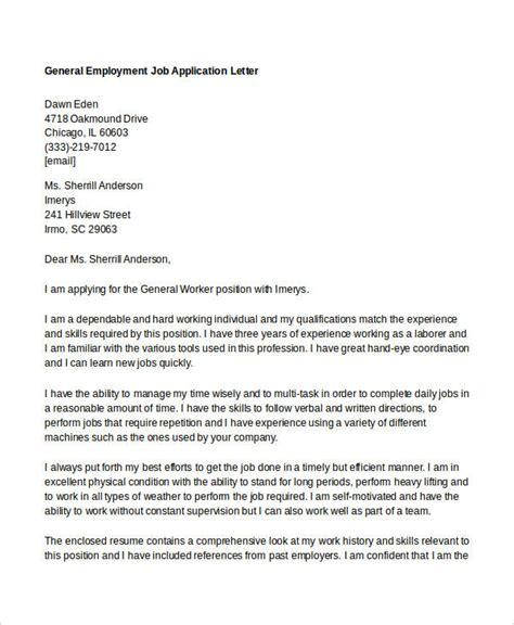 job application letter templates  employment