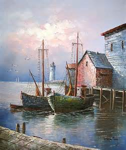 Beautiful Lighthouses Paintings