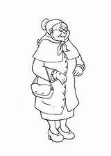Abuela Coloring Grandmother Oma Para Dibujo Colorear Pages Malvorlage Template Printable Edupics раскраска бабушка дедушка sketch template