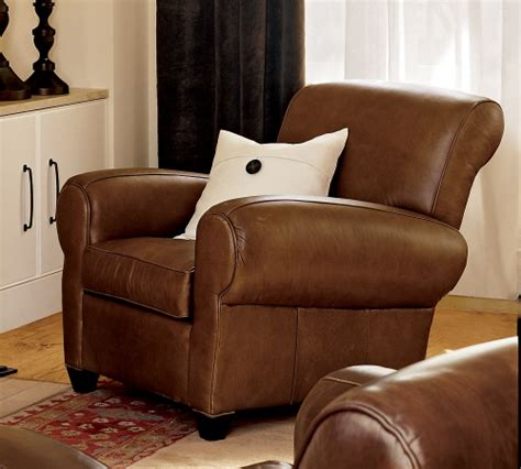 pottery barn leather chair furniture fashionmanhattan the best leather recliner
