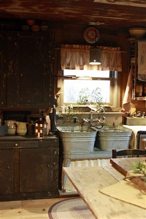 Primitive Kitchen Sink Ideas by Rustic Interior Design Cottage Country Kitchen Aged Farm