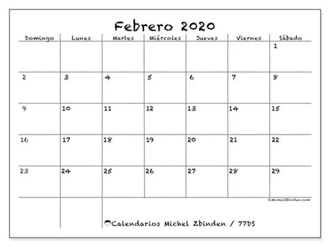 calendario febrero ds michel zbinden es