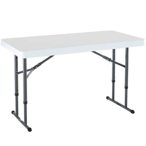 lifetime white granite adjustable folding table   home depot