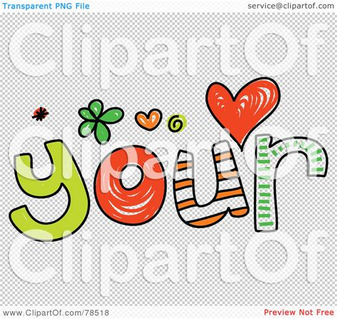 Royaltyfree (rf) Clipart Illustration Of A Colorful Your