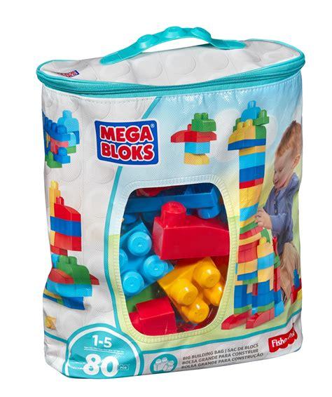 Amazoncom Mega Bloks 80piece Big Building Bag, Classic