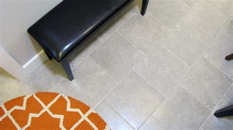 Contemporary Tile and Flooring of Gray and White
