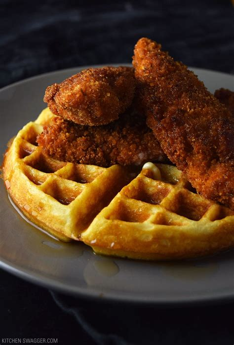 spicy fried chicken  waffles recipe kitchen swagger