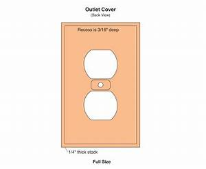 using a cnc router to make a custom outlet cover With electrical outlet template
