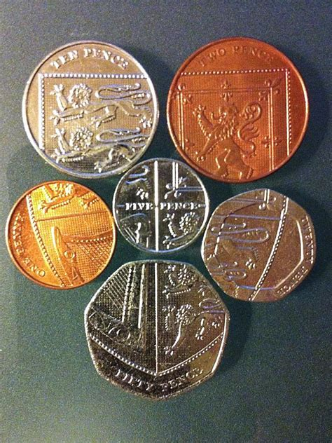 UK coins laid out in a shield | Coin Talk