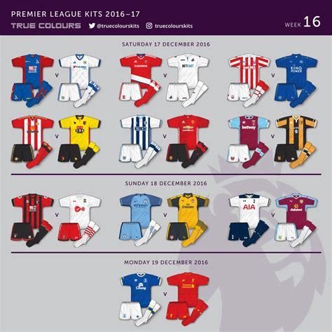 football colors premier league kit colours of
