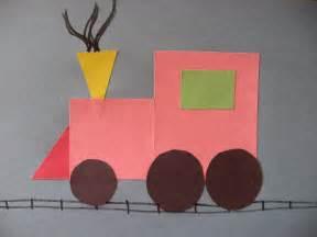 Shape Train Craft for Preschoolers