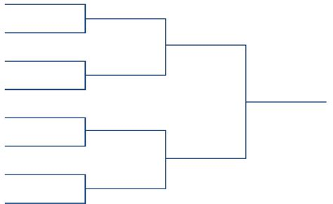 Tournament Bracket Template Blank Editable Brackets