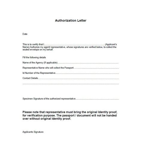 third party mandate letter template 46 free authorization letter sles templates free