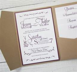 rustic wedding invitations rustic kraft wedding invitation pocket country by rivercitystudio