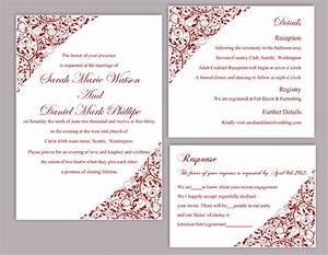 wedding invitation editable templates wblqualcom With red blank wedding invitations templates