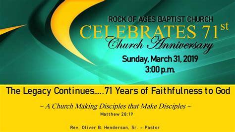 st church anniversary rock  ages church